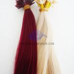 Extensión de cabello con punta de queratina