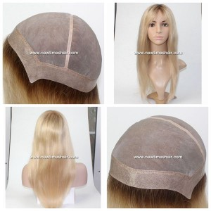 LW1169 Peluca para mujeres, base de suave monofilamento, cabello rubio gran naturalidad.