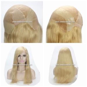 Mod.NTW3.Peluca Completa de pelo natural para mujer.