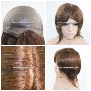 LJ2182 Peluca para mujeres con base de Skin (poliuretano)