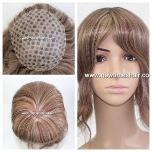 Mod.LJC285 Peluca para mujer Base de Thin skin