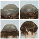 Mod.LJC263 Sistema Capilar para hombres. Base de suave Monofilamento, tul (French Lace) en la parte frontal