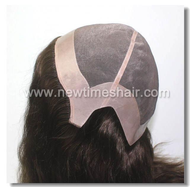 Mod.LW1119 Peluca natural para mujer. Base material transpirable