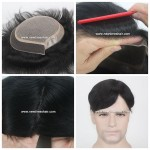 Mod. LWS014 Peluquín para hombre base Silk Top