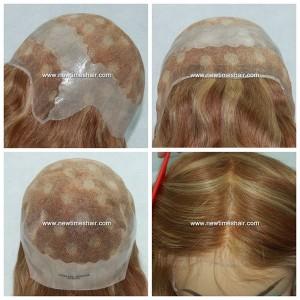 Mod.LJC253 Peluca para mujer. Base pu+lace