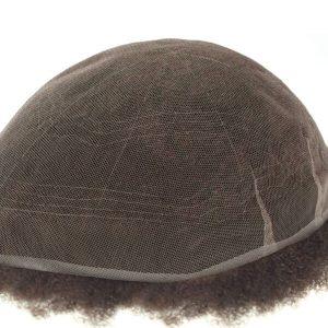 Base de Encaje Francés Stock Afro Curly Sistema de Cabello Natural para Hombres New Times Hair
