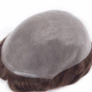 HS1R Prótesis Capilar en Stock de Cabello Indio Remy con Base Skin Súper Delgada New Times Hair