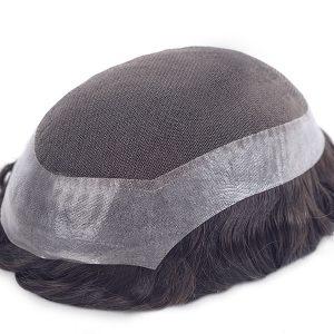 Encaje Francés AUSTRALIA Natural con PU alrededor del la Prótesis Capilar de Cabello Humano en New Times Hair