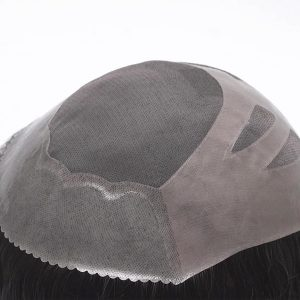 HS27 Prótesis Capilar de Hombre en Stock. Base Fine Mono (monofilamento fino) Muy Realista y de Alta Calidad