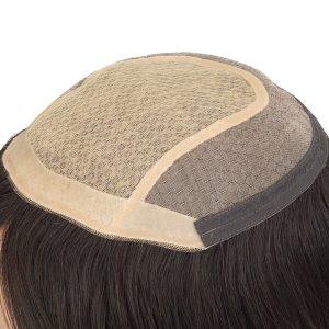 Prótesis Capilar en Stock para Mujer de Silk Top con Cabello Remy de New Times Hair