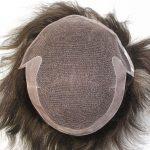 LW1894 Próteisis apilar para hombre con PU fino en la parte trasera y laterales de cabello natural de New Times Hair
