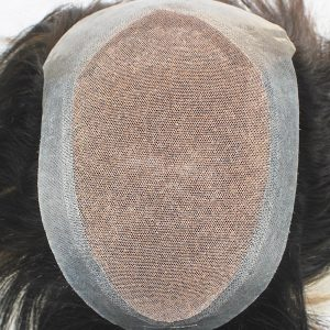 LJC2158 Prótesis Capilar para Hombre de Frenc Lace con Dye-After y un Perímetro de PU en New Times Hair