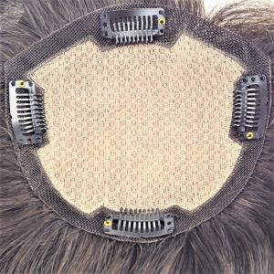 ST-1 Prótesis Capilar para Mujer de Silk Top y Cabello Liso Negro
