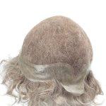 LL655 Peluca de Hombre de French Lace con un Perímetro de PU con Cabello Canoso Humano de New Times Hair