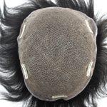 LW2489 Prótesis Capilar de Cabello 100% Natural con una Base de Lace y Clips