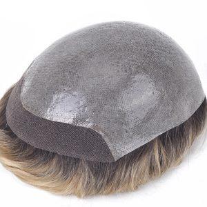 Skin súper fino con la parte delantera de lace Prótesis capilares para hombre con el T-color popular New Times Hair