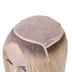 Silk Top con el Frente de Lace Color T Prótesis Capilar para Mujer New Times Hair