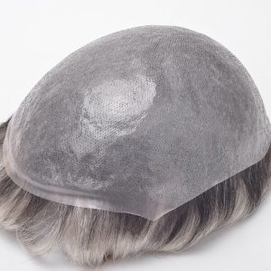 Skin transparente súper fino, Cabello virgen natunal, Prótesis capilar para hombre con el T-color New Times Hair