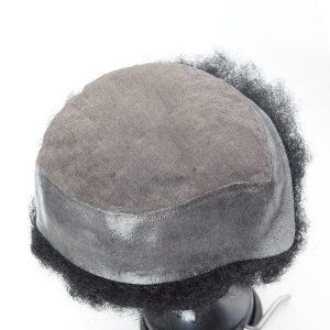 Base duradera de mono Peluca para hombre con Afro curl
