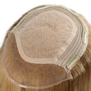 Cabello Rubio Natural  Silk Top con Tramas Hechas a Máquina Prótesis Capilar Femenina   New Times Hair