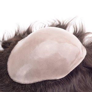 Prótesis capilares masculinas de pelo natural con base de skin recubierta de Poly New Times Hair