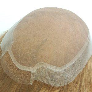 Prótesis Capilar para Mujeres de Mono Fino con el Poli Transparente y el Frente de Tul Francés  New Times Hair