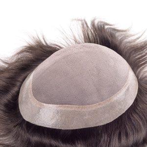 Monofilamento con PU de Gasa Prótesis Capilar para Hombre | New Times Hair