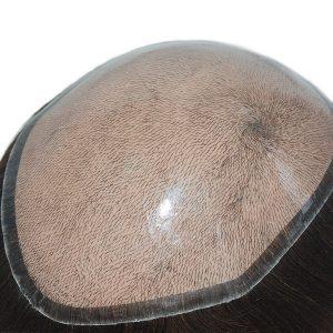 Base de silicona inyectada Prótesis capilares para hombre con una apariencia natural de alta calidad