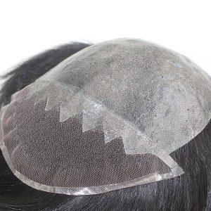 Skin Inyectado con un Frontal de Lace Prótesis Capilares para Hombre New Times Hair