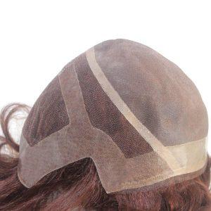 LJC1796 Pluca de cabello sintético con la base de mono fino.