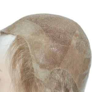 LJC315: Tul Francés con PU Cubierta de Cabello 100% Natural Peluca para Hombres | New Times Hair