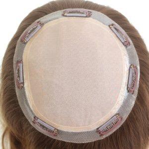 LT638: Cabello Indio Base de Silk Prótesis Capilar para Mujeres con Clips   New Times Hair