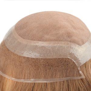LW011658 Mono con el PU con Gasa Alrededor y la Parte Delantera de Lace Prótesis capilar Femenina | New Times Hair
