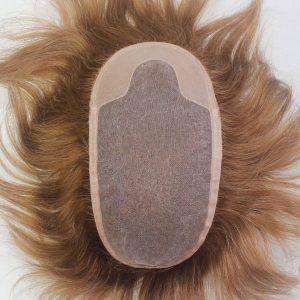 LW1085: Prótesis capilar de cabello indio con una base de mono con el PU cubierto