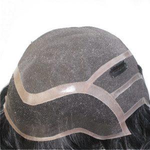 LW1544: Base de mono. Prótesis capilar de cabello natural con clips.