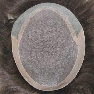 LW1794 Fábrica Directa Prótesis capilar con la base de mono