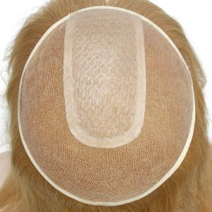LW183 Tul Francés y Silk Top Prótesis Capilar para Mujeres   New Times Hair