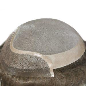 LW352 Prótesis capilar masculina de cabello natural