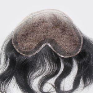 LW953: Protésis capilares Masculina de Tul francés, Cabello Humano, Cierre de lace  | New Times Hair