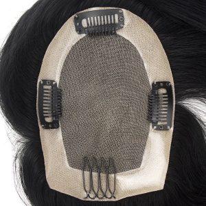 Mono con NPU Alrededor y Clips Cabello Humano Prótesis Capilar  | New Times Hair