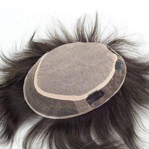 Silk top Base de lace Prótesis capilar masculina con la línea del cabello natural