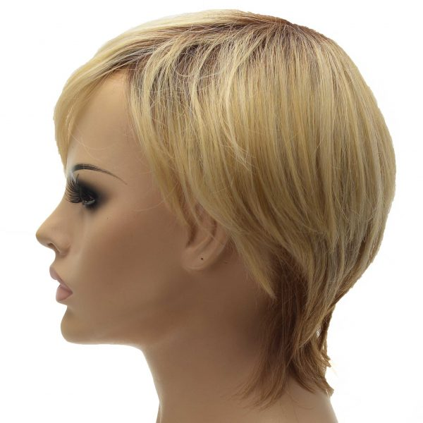 Q6 French Lace with PU Sides Stock Afro Curly Toupee5